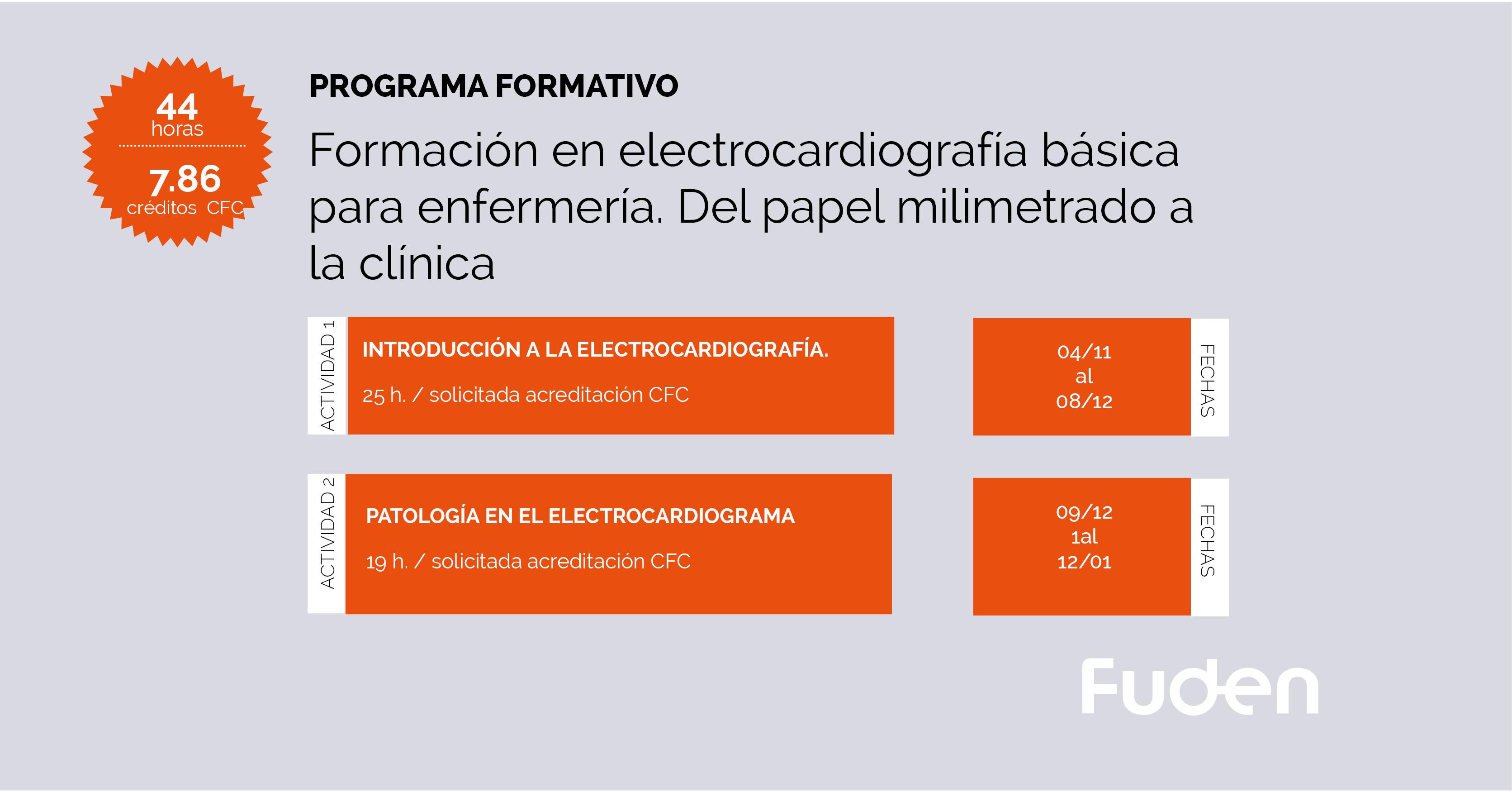 19/20 Programa ACSA. Formación en electrocardiografía para enfermería. Del papel milimetrado a la clínica