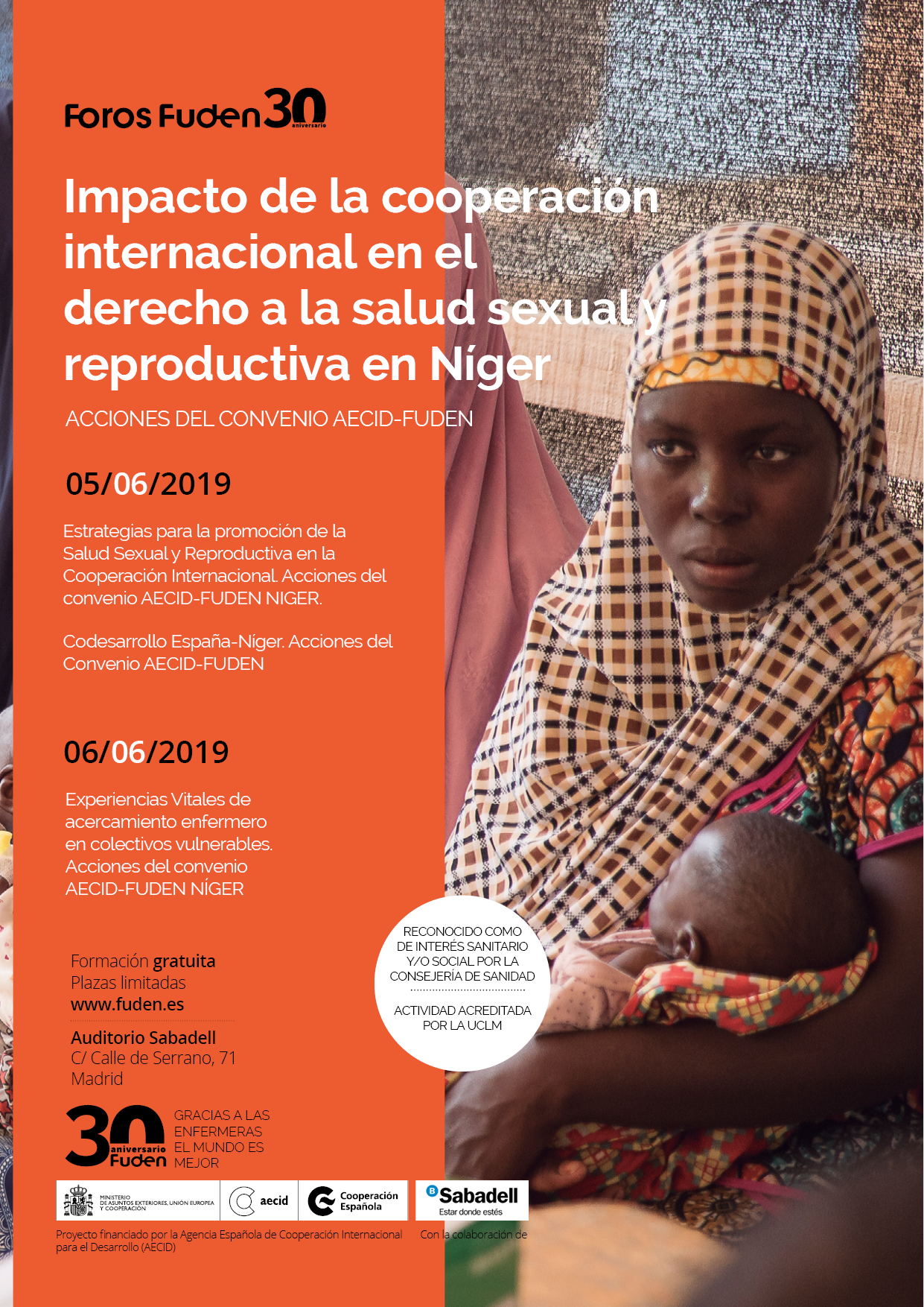 INSCRIPCIÓN. Impacto de la cooperación internacional en el derecho a la salud sexual y reproductiva en Níger. Acciones del convenio AECID-FUDEN